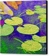 Koi Fish Under The Lilly Pads  Canvas Print by Jon Neidert