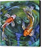 Koi Swirl Canvas Print by Donna Tuten