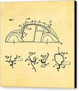 Komenda Vw Beetle Body Design Patent Art 1942 Canvas Print by Ian Monk