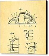 Komenda Vw Beetle Body Design Patent Art 1943 Canvas Print by Ian Monk