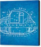 Komenda Vw Beetle Body Design Patent Art 3 1944 Blueprint Canvas Print by Ian Monk