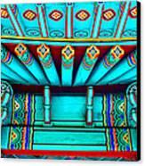 Korean Pagoda Details Canvas Print by Karon Melillo DeVega