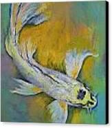 Kujaku Butterfly Koi Canvas Print by Michael Creese