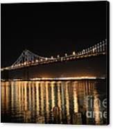 L E D Lights On The Bay Bridge Canvas Print by David Bearden