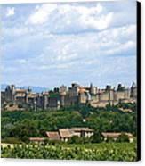 La Cite De Carcassonne Canvas Print by France  Art