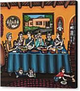 La Familia Or The Family Canvas Print by Victoria De Almeida