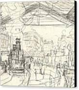 La Gare Saint Lazare Canvas Print by Claude Monet