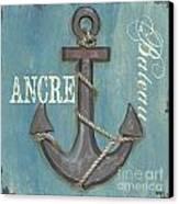 La Mer Ancre Canvas Print by Debbie DeWitt