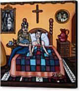 La Partera Or The Midwife Canvas Print by Victoria De Almeida