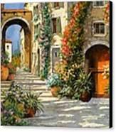 La Porta Rossa Sulla Salita Canvas Print by Guido Borelli