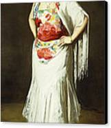 La Reina Mora Canvas Print by Robert Henri