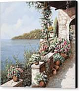 La Terrazza Canvas Print by Guido Borelli