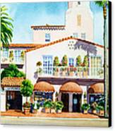 La Valencia Hotel Canvas Print by Mary Helmreich