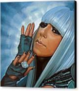 Lady Gaga Canvas Print by Paul Meijering