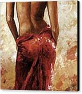 Lady In Red 27 Soft Color Canvas Print by Emerico Imre Toth