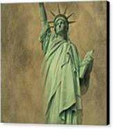 Lady Liberty New York Harbor Canvas Print by David Dehner