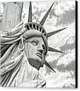 Lady Liberty  Canvas Print by Sarah Batalka