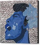 Lady Sings Canvas Print by Aisha Lumumba