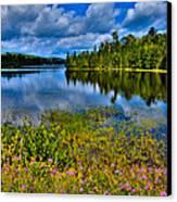 Lake Abanakee At Indian Lake New York Canvas Print by David Patterson