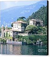 Lake Como Palace Canvas Print by Greta Corens