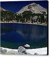 Lake Helen At Mt Lassen Triptych Canvas Print by Peter Piatt