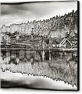 Lake House Reflection Canvas Print by Ron White