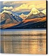 Lake Mcdonald Sunset Canvas Print by Adam Jewell