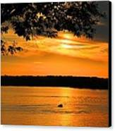 Lake Panarama Sunset Canvas Print by Bob Hislop