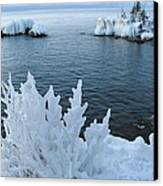 Lake Superior Blues Canvas Print by Sandra Updyke