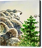 Lake Tahoe - California Sketchbook Project Canvas Print by Irina Sztukowski