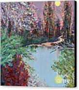 Lake Tranquility Canvas Print by Alys Caviness-Gober