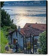 Lake View Down To Lake Como In Italy Canvas Print by Anna-Mari West
