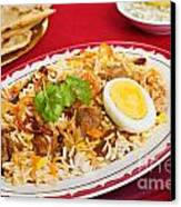 Lamb Biryani Canvas Print by Colin and Linda McKie