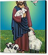 Lamb Of God Canvas Print by Victoria De Almeida