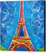 L'amour A Paris Canvas Print by Teshia Art