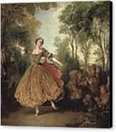Lancret, Nicolas 1690-1743. Mlle Canvas Print by Everett