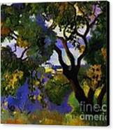 Landscape At St Tropez  2 Canvas Print by Pg Reproductions
