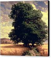 Landscape With Oaks Canvas Print by Alexandre Calame