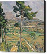 Landscape With Viaduct Canvas Print by Paul Cezanne