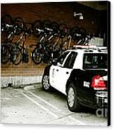 Lapd Cruiser And Police Bikes Canvas Print by Nina Prommer