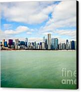 Large Picture Of Downtown Chicago Skyline Canvas Print by Paul Velgos
