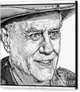 Larry Hagman In 2011 Canvas Print by J McCombie