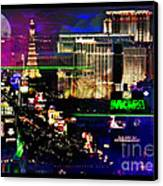 Las Vegas Igniting Your Fire Canvas Print by Christine Mayfield