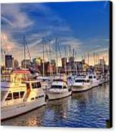 Late Afternoon At Constitution Marina - Charlestown Canvas Print by Joann Vitali