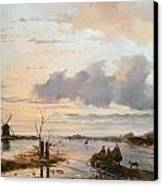 Late Winter In Holland Canvas Print by Nicholas Jan Roosenboom