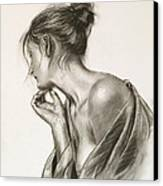 Laura In Deep Thought Canvas Print by John Silver