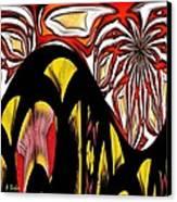 Lava Flow Canvas Print by Alec Drake