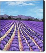 Lavender Field In Provence Canvas Print by Anastasiya Malakhova