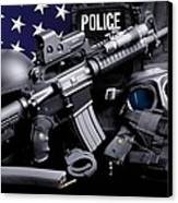 Law Enforcement Tactical Police Canvas Print by Gary Yost