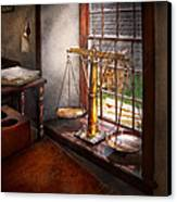 Lawyer - Scales Of Justice Canvas Print by Mike Savad